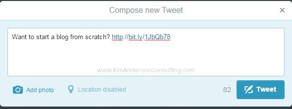 Twitter Bitly Shortening